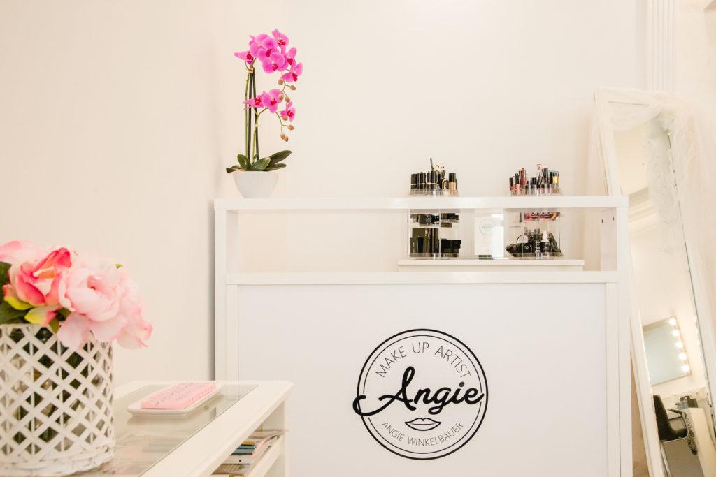 Eingangsbereich im Make up Artist Studio Angie in Wien